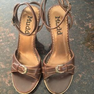 Miss Backup Cork Heel Sandals